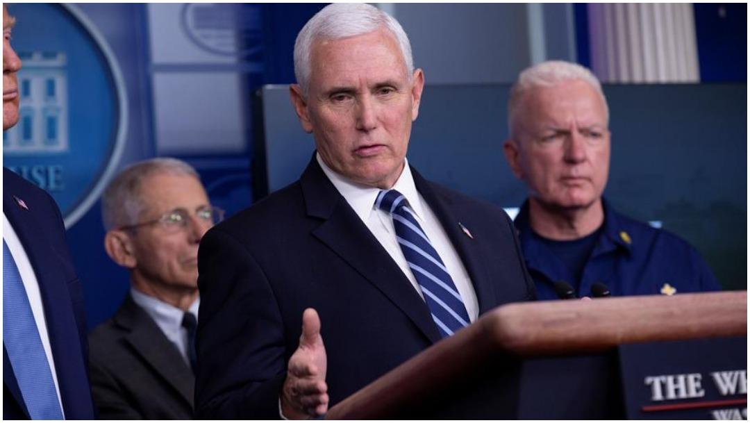 Imagen: Mike Pence y su epsosa se someterán a prueba del coronavirus tras caso positivo en la Casa Blanca, 21 de marzo de 2020 (EFE)