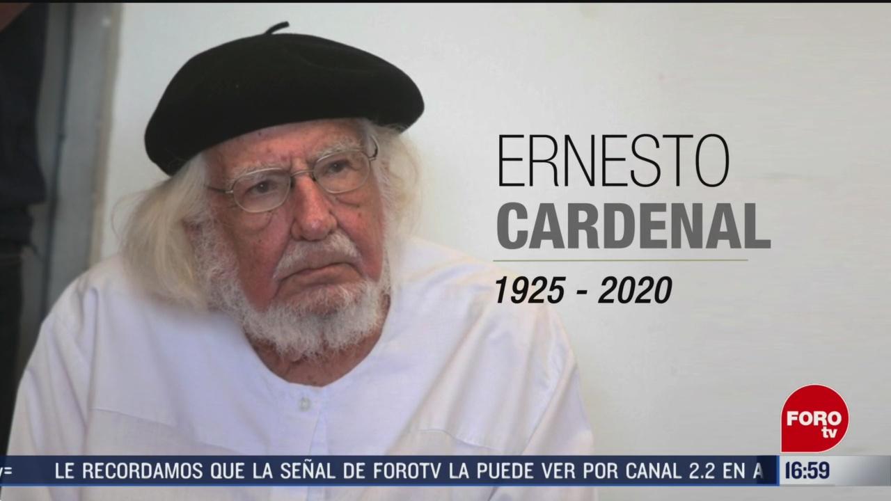FOTO: 1 marzo 2020, muere el poeta ernesto cardenal a los 95 anos
