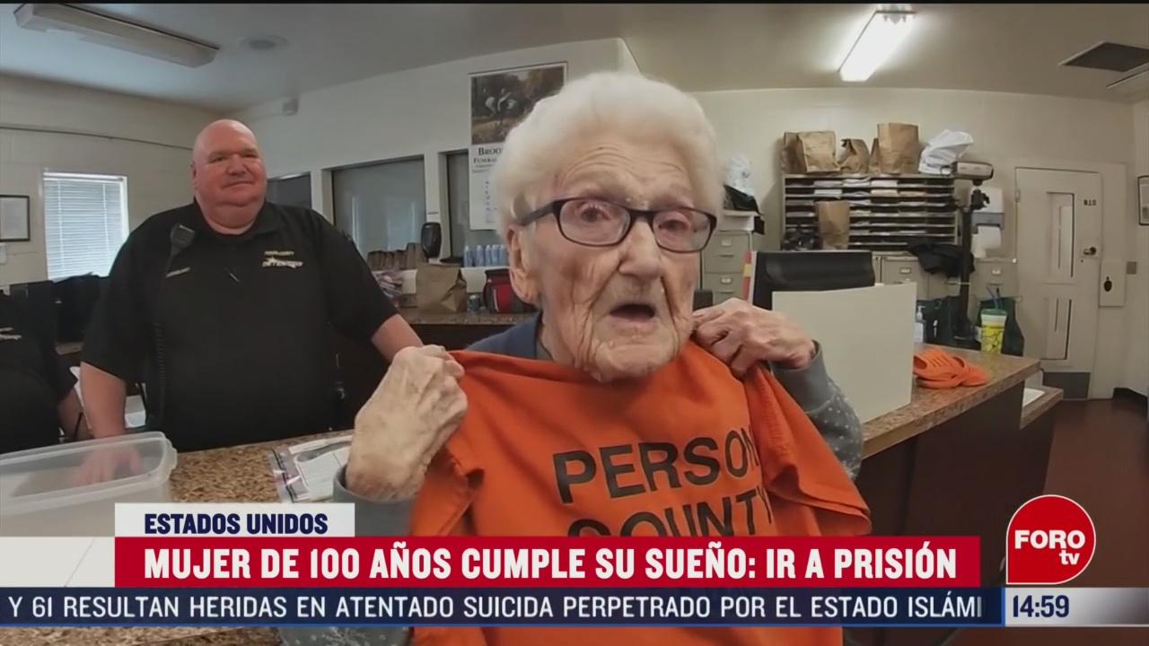 Foto: Mujer 100 Años Cumple Sueño Ir Prisión 6 Marzo 2020