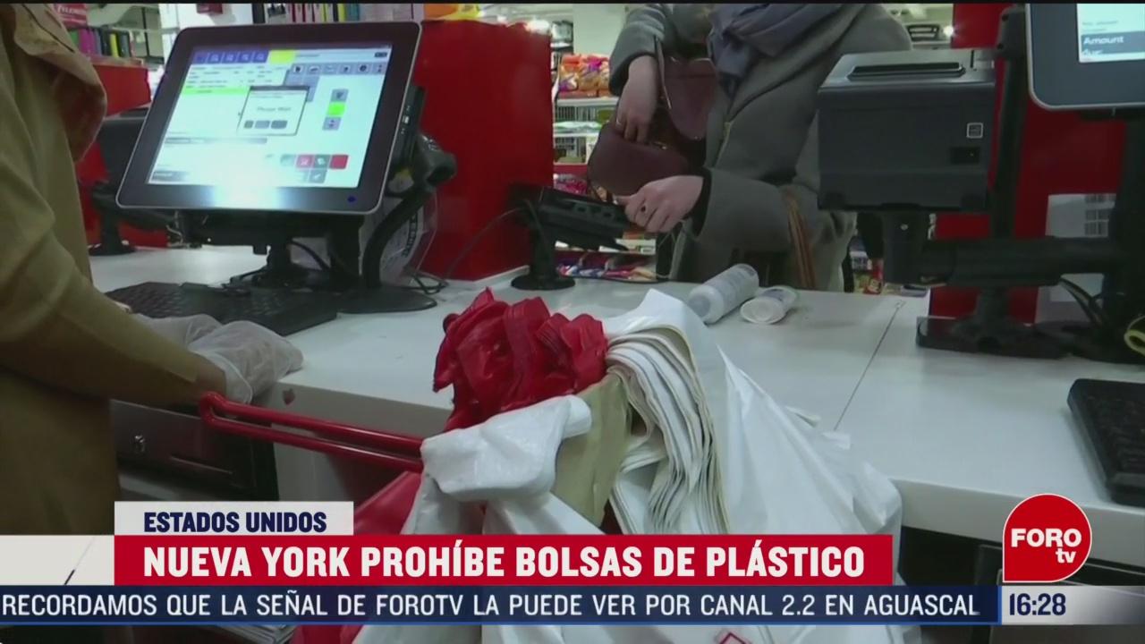 FOTO: 1 marzo 2020, nueva york prohibe bolsas de plastico de un solo uso