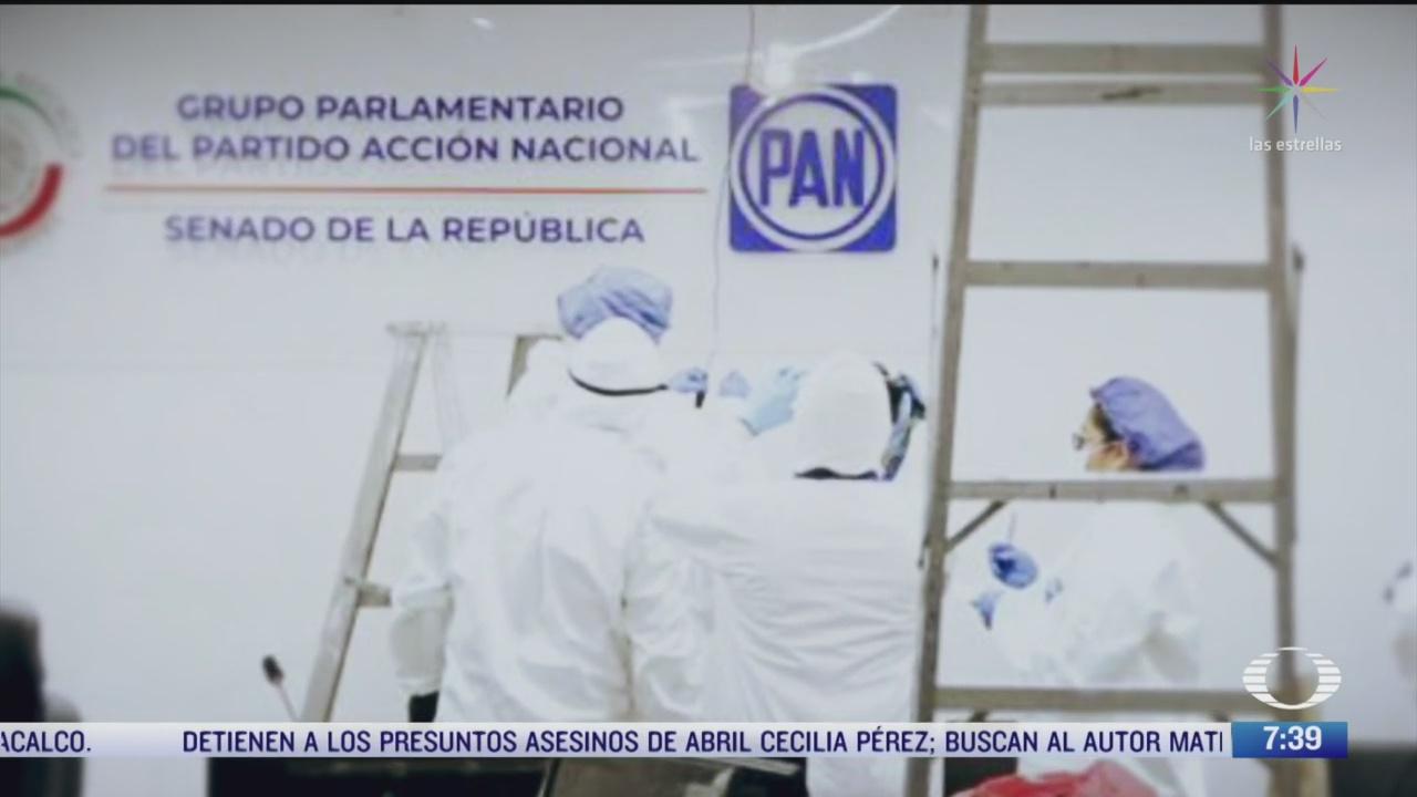 peritos de fgr revisan sala de juntas del pan en el senado por denuncia de espionaje