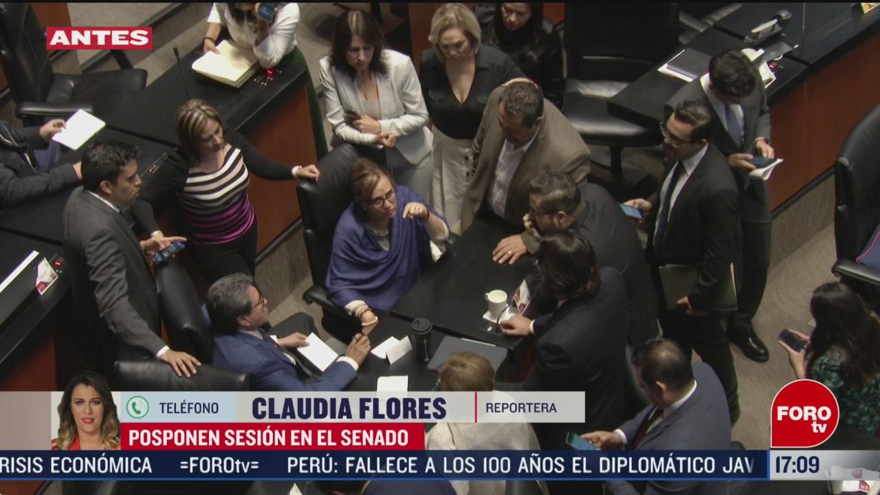 FOTO: posponen sesion en el senado tras caso de espionaje en bancada del pan