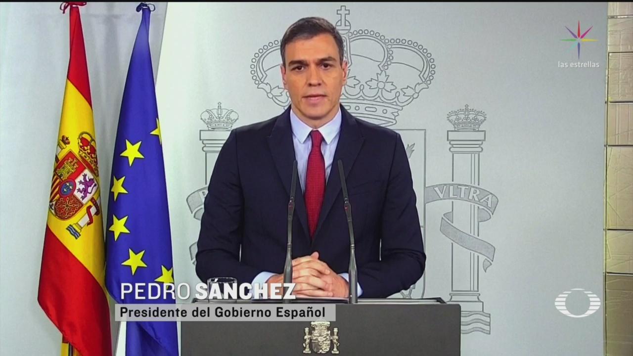 Foto: Presidente España Predo Sánchez Declara Estado Alarma 13 Marzo 2020