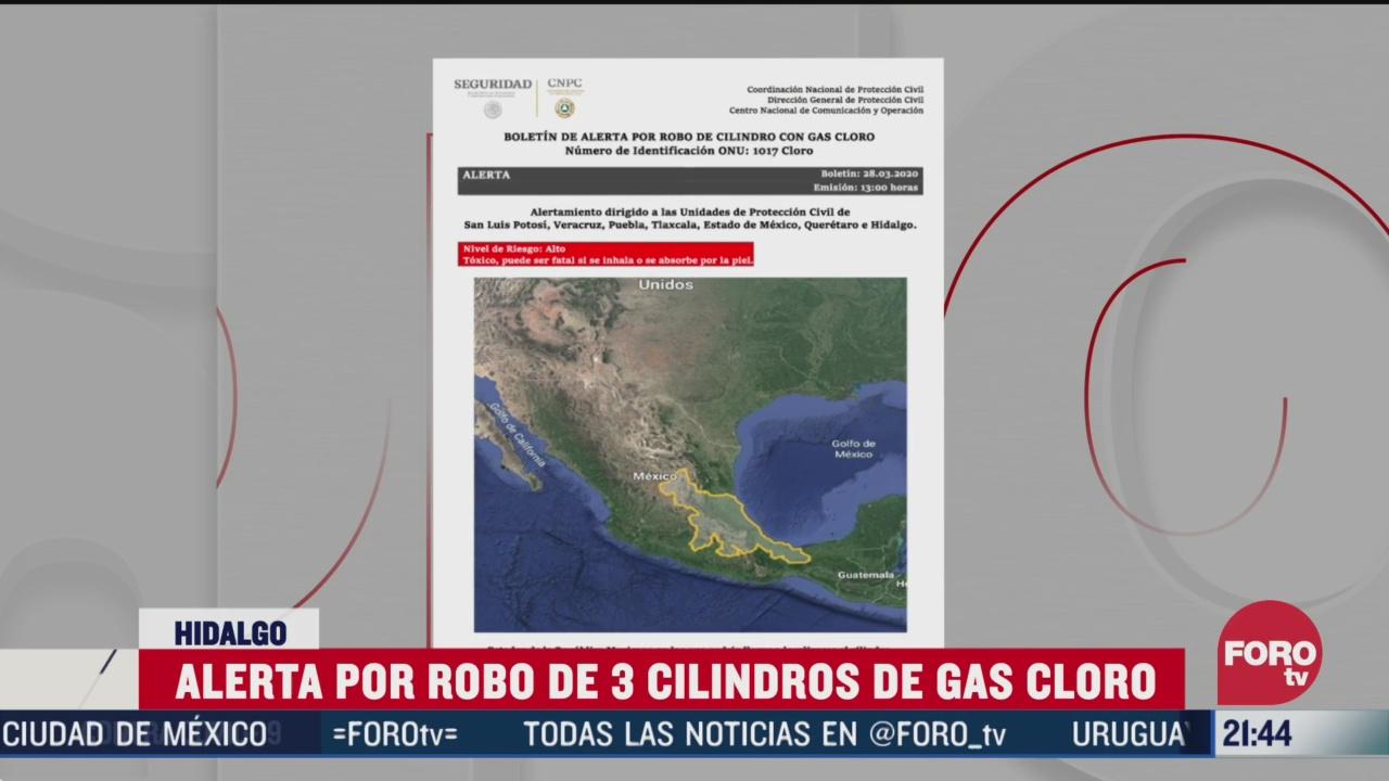 FOTO: 28 marzo 2020, roban tres cilindros de gas cloro en tlahuelilpan hidalgo
