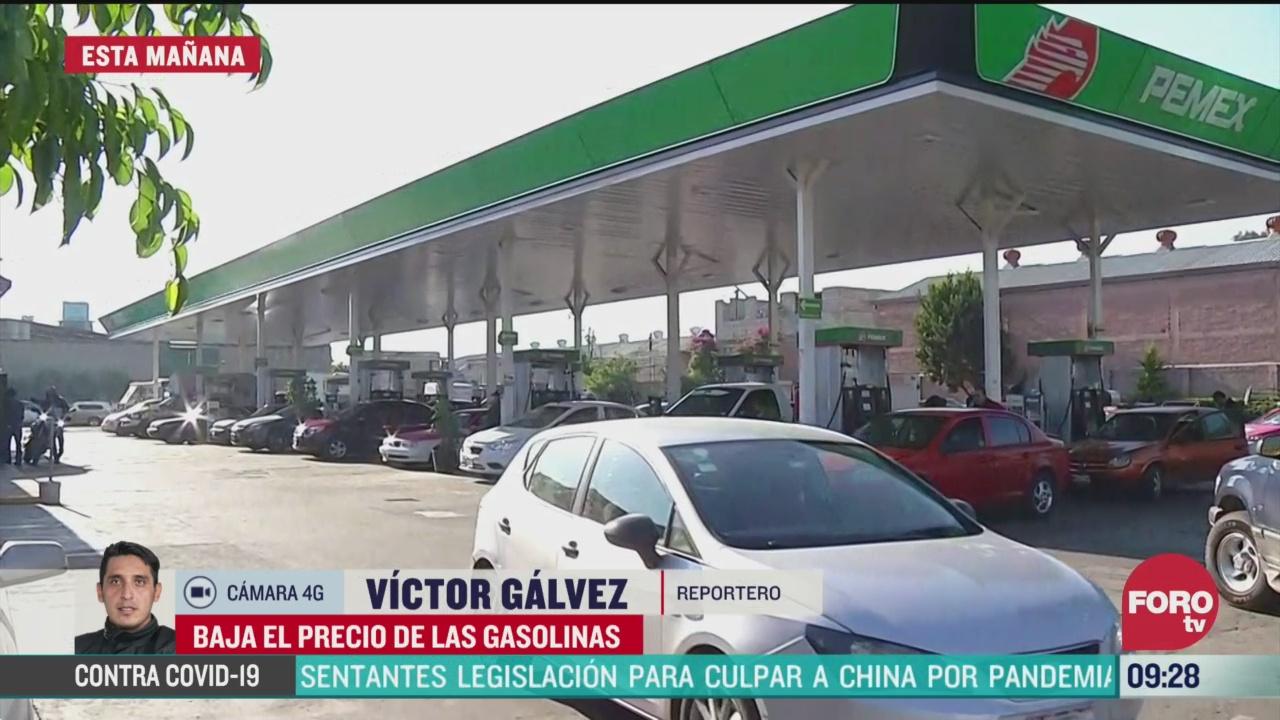 se mantienen precios bajos de gasolina en la cdmx