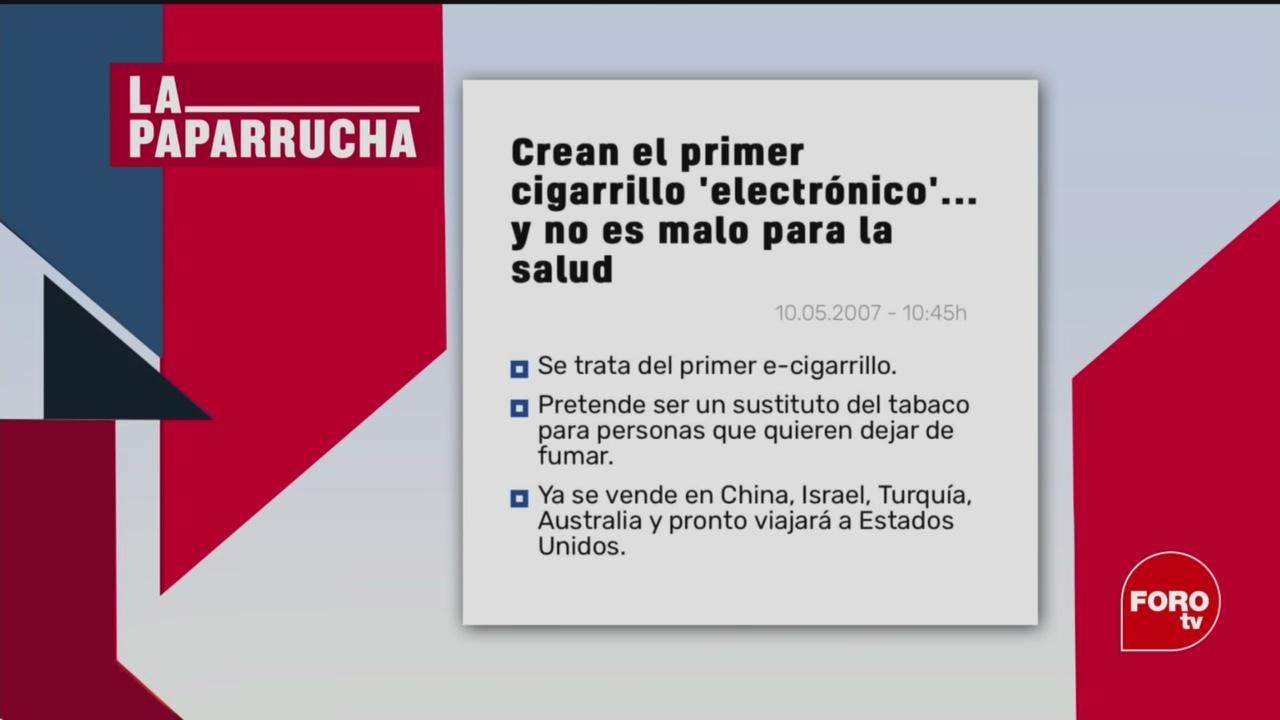 Foto: uso de cigarrillos electronicos la paparrucha del dia