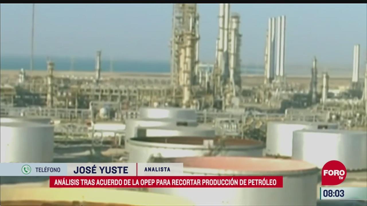 acuerdo petrolero de la opep