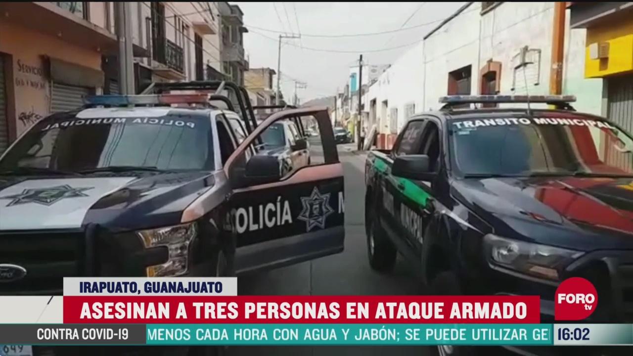 FOTO: 25 de abril 2020, asesinan a tres durante ataque armado en irapuato guanajuato