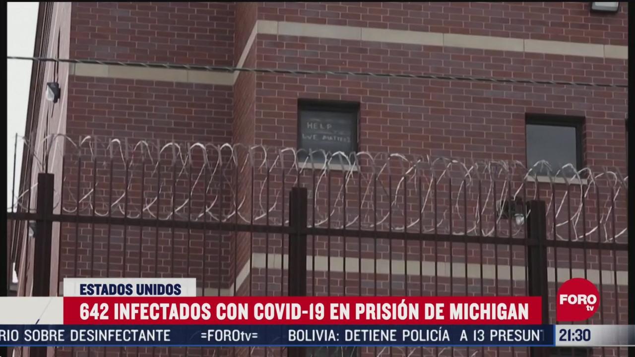 FOTO: 25 de abril 2020, cerca de 650 prisioneros dan positivo a coronavirus en carcel de michigan