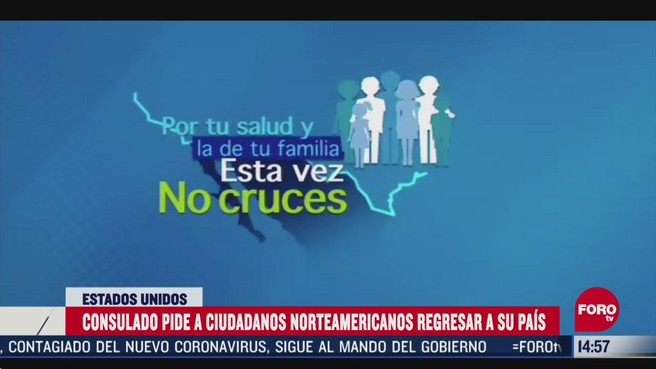 FOTO: consulado de eeuu pide a ciudadanos regresar a su pais por coronavirus