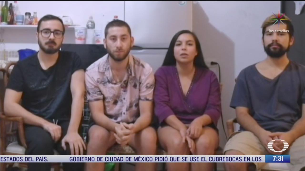 FOTO: cuatro estudiantes chilenos se encuentran varados en merida yucatan