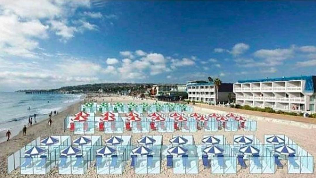 Foto Proponen cubos de cristal para evitar contagios de coronavirus en playas de Europa 29 abril 2020