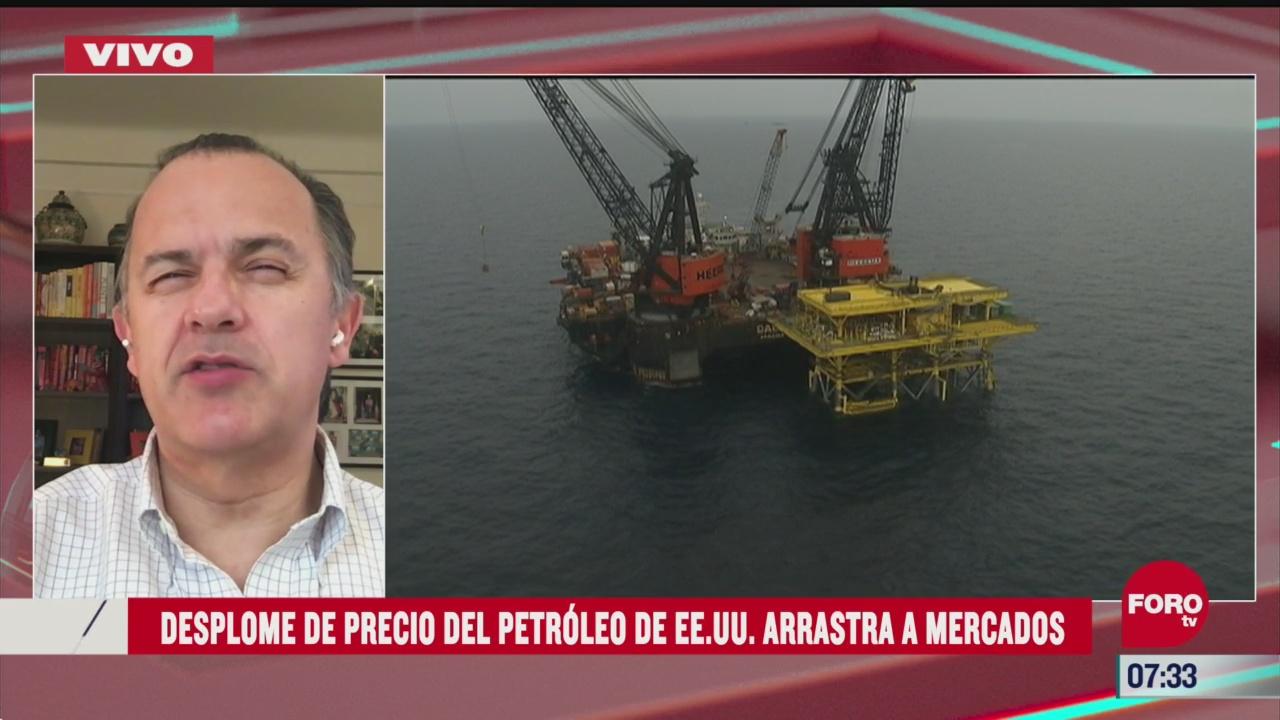 desplome de precio del petroleo de eeuu arrastro a los mercados