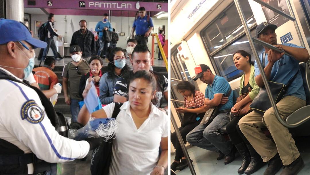 Coronavirus: Usuarios del STC Metro no usan cubrebocas