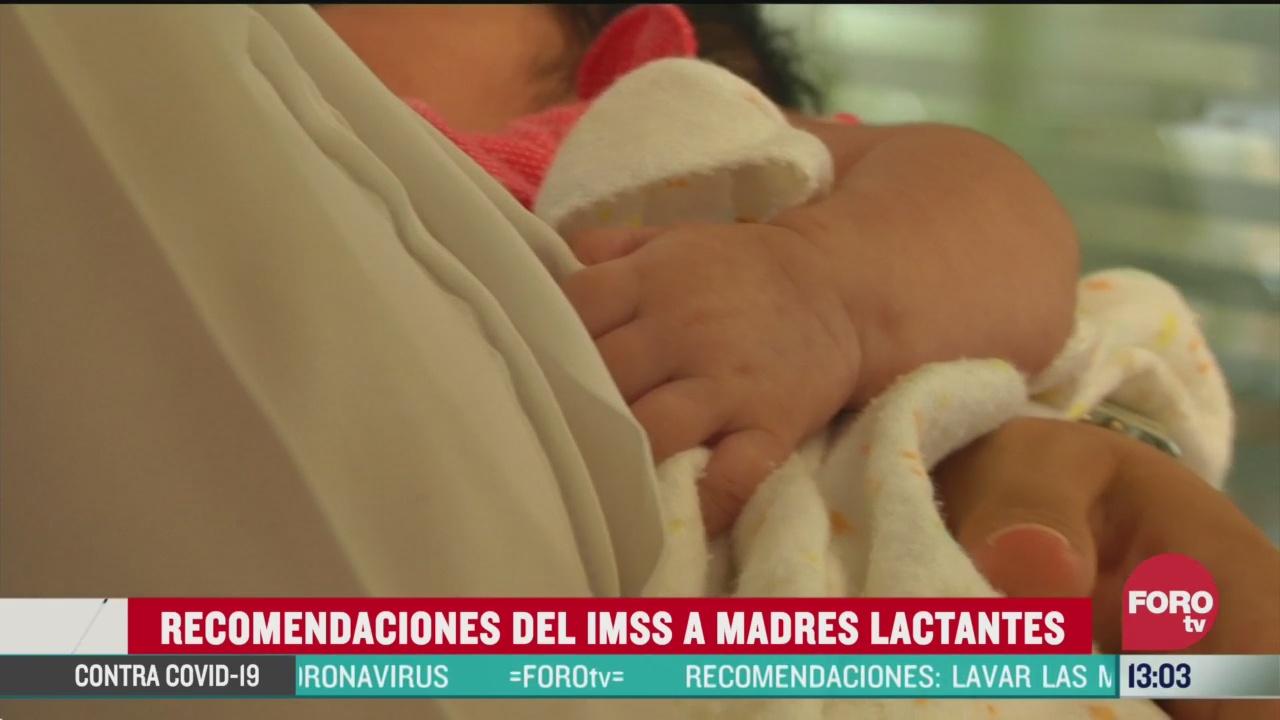 FOTO: imss emite recomendaciones a madres lactantes por coronavirus