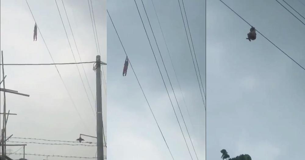 Video-Viral-Niña-9-años-colgada-cable-Indonesia-cuelga-cable-Videos, Ciudad de México, 20 de abril 2020