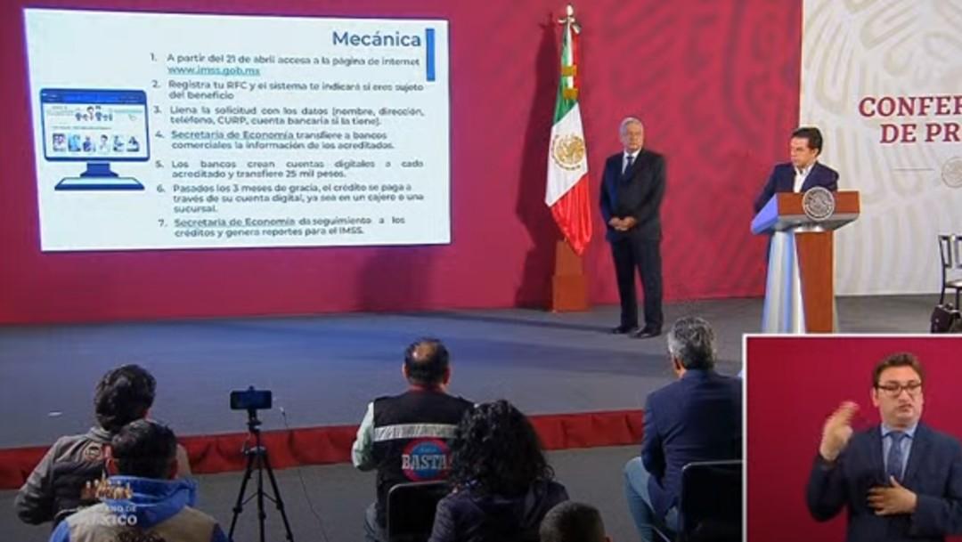 Foto: AMLO: A fines de mayo estarán listos dos millones de créditos para pequeñas y medianas empresas