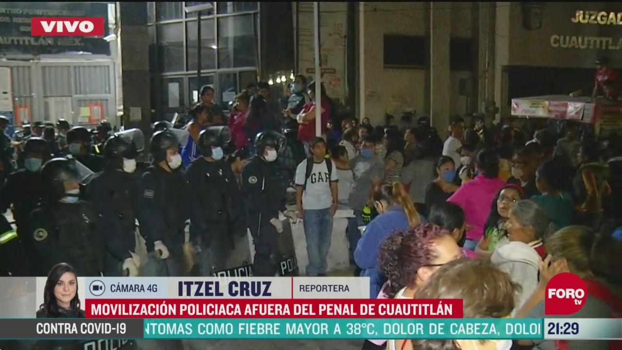 Foto: Motín Penal Cuautitlán Edomex Casos Contagios Coronavirus 14 Abril 2020