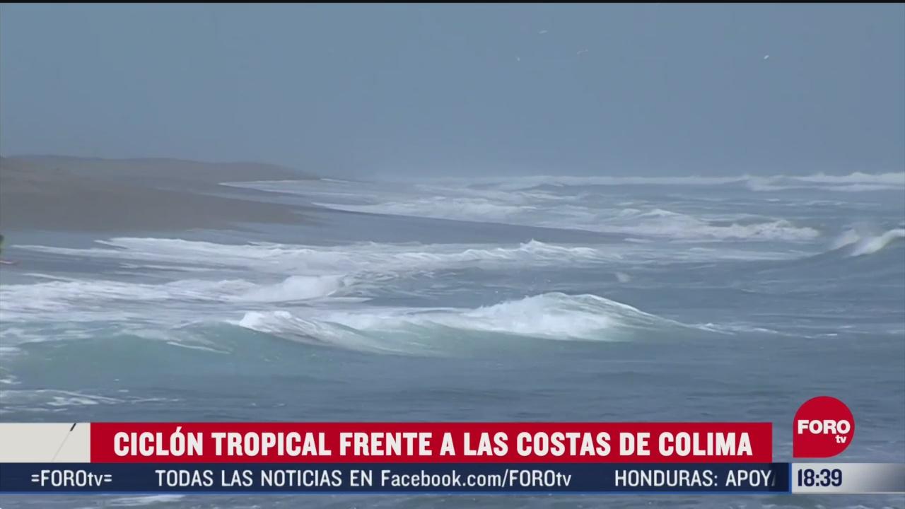 FOTO: se forma el primer ciclon de la temporada en costas de colima