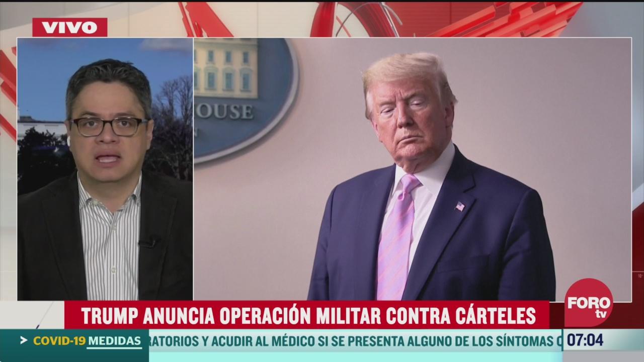 trump anuncia operacion militar contra carteles