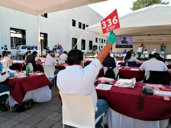 Foto: Realizan tercer subasta del 2020 en Los Pinos, 17 de mayo de 2020, ( Twitter @PedroIxcoatl)