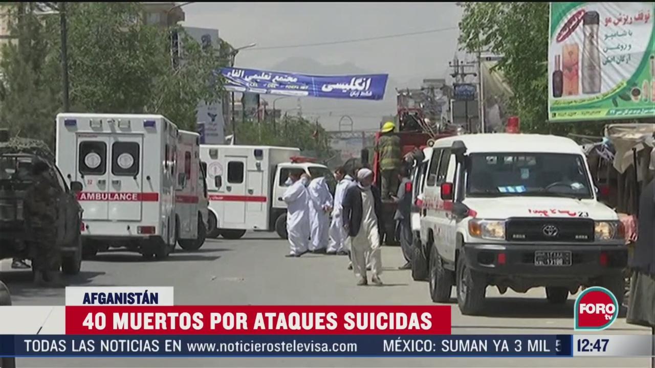 40 muertos por ataques suicidas en afganistan