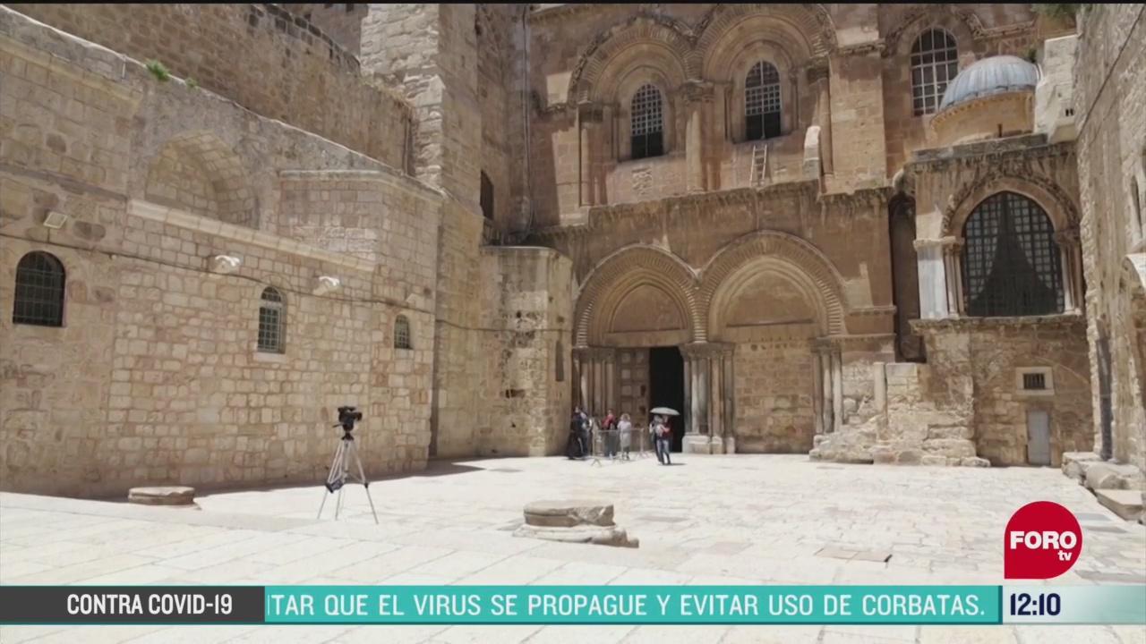 abren parcialmente iglesia del santo sepulcro