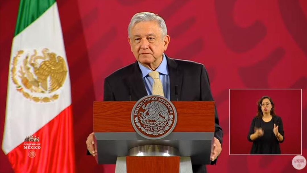 Andrés Manuel López Obrador, presidente de México, durante la conferencia matutina en el Palacio Nacional. (Foto: Redes sociales Gobierno de México)