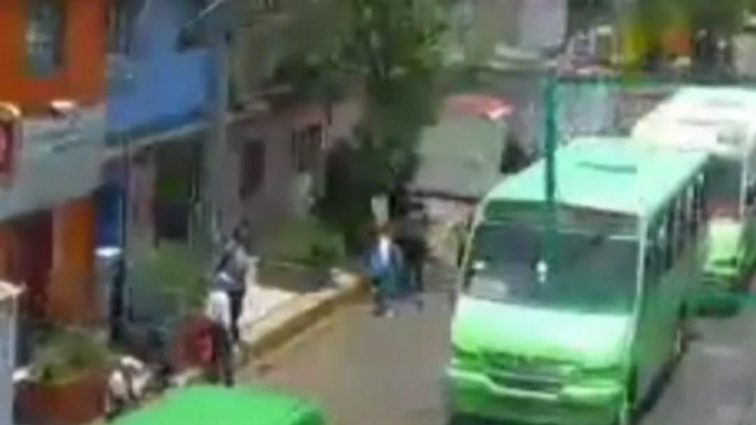 Un policía de investigación disparó y detuvo al ladrón. Twitter/C5