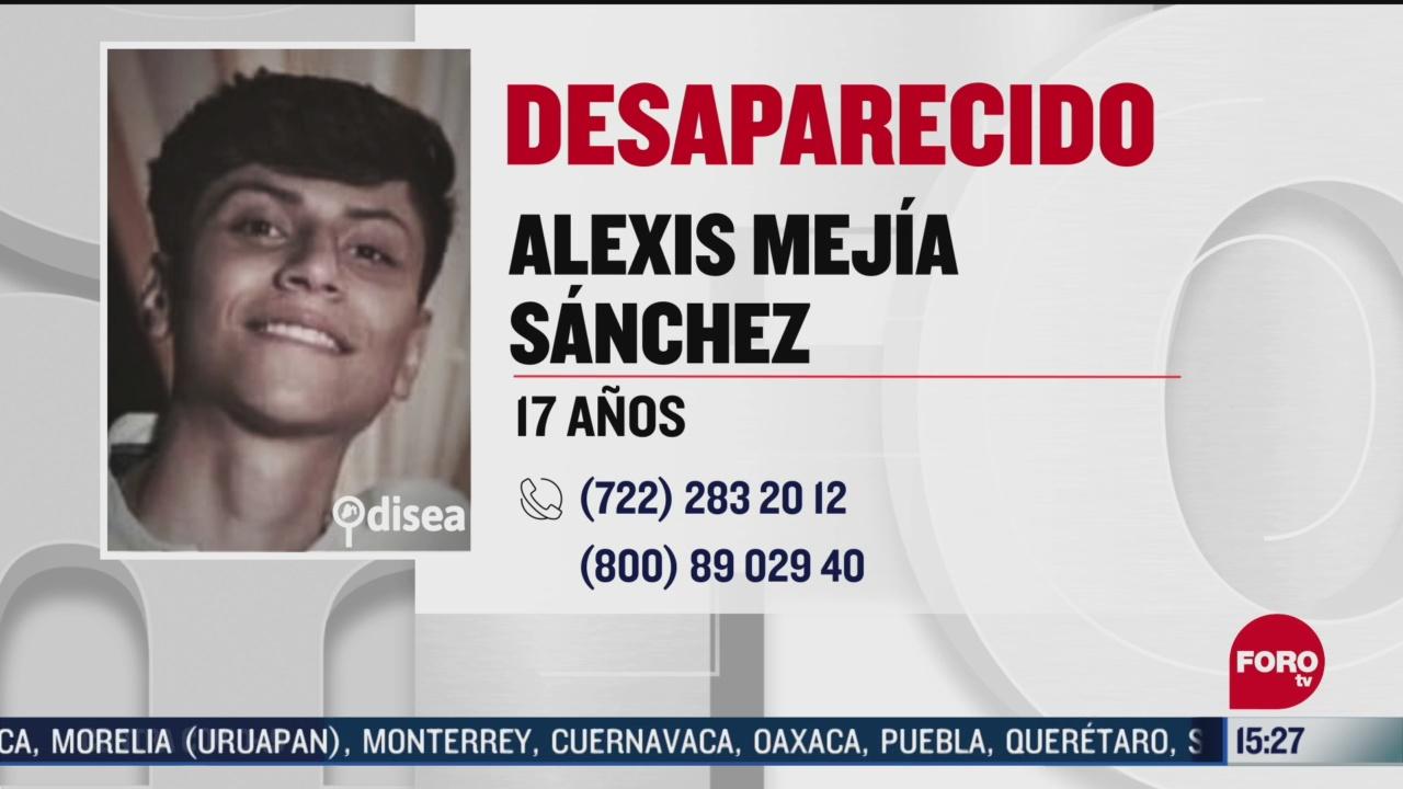 FOTO: 3 de mayo 2020, buscan a alexis mejia sanchez desaparecido en naucalpan