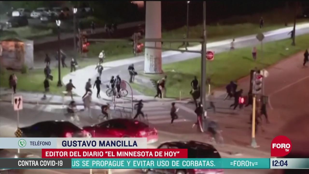 continuan las protestas en minnesota tras asesinato de afroamericano