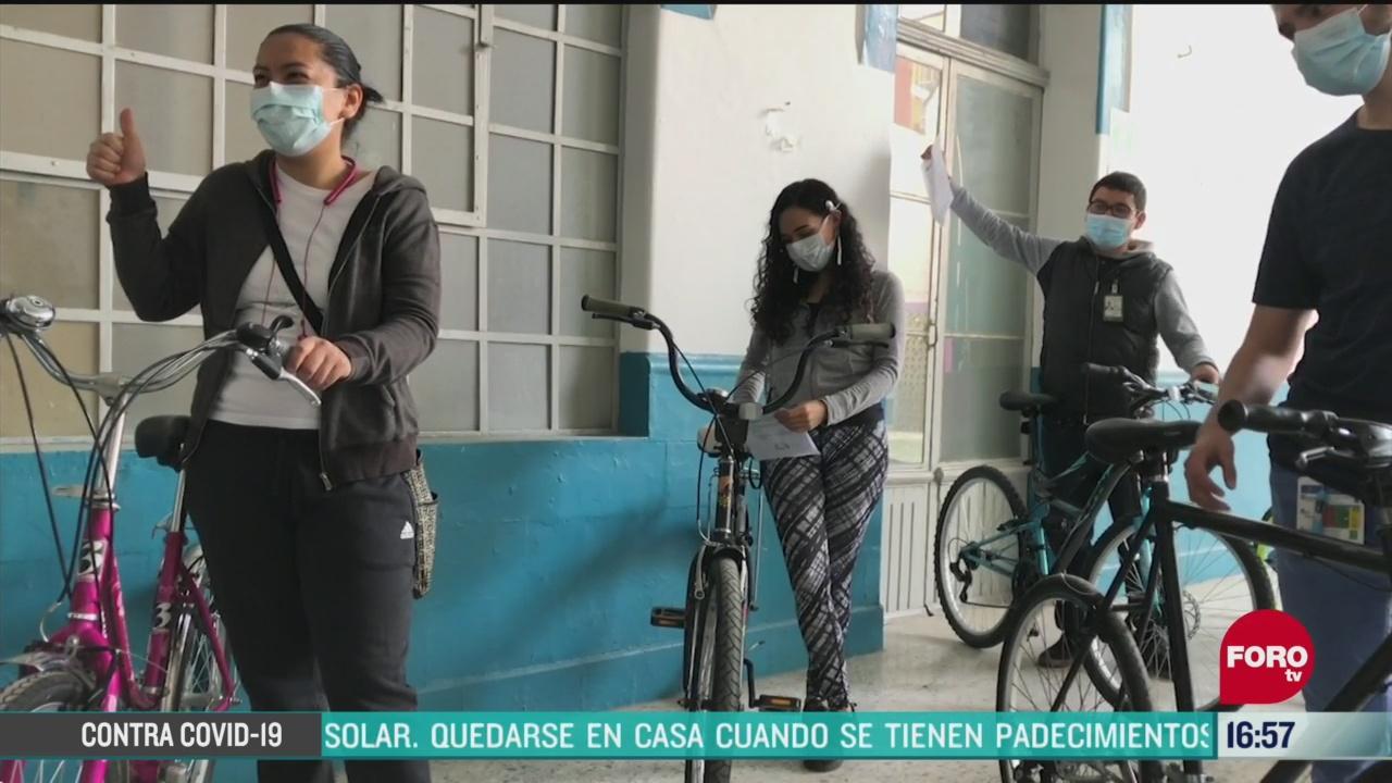 donan cientos de bicicletas para personal de salud