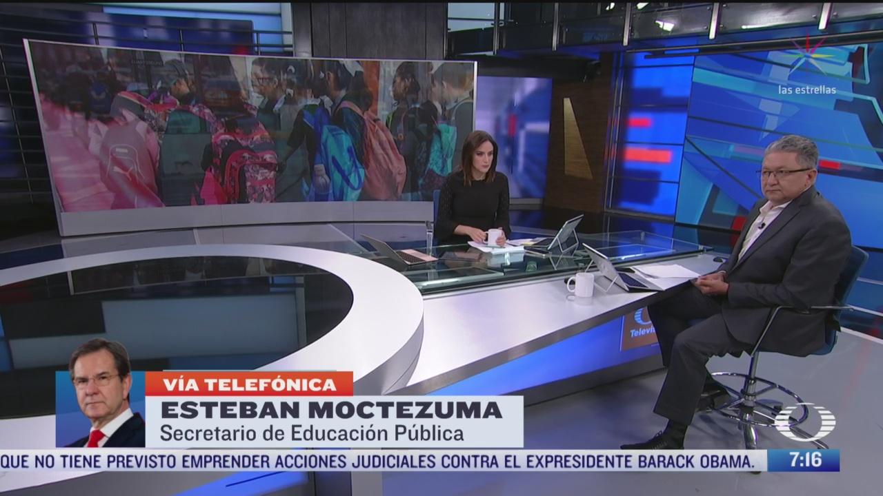 entrevista con esteban moctezuma titular de la sep para despierta