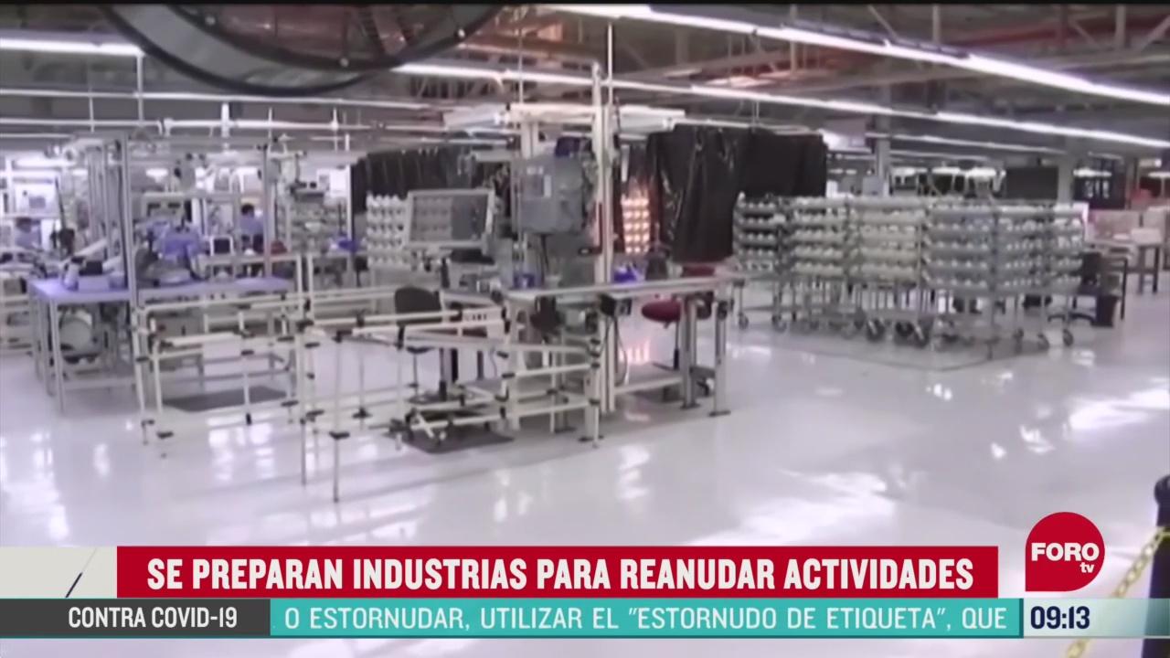industrias automotriz minera y construccion se preparan para reanudar actividades