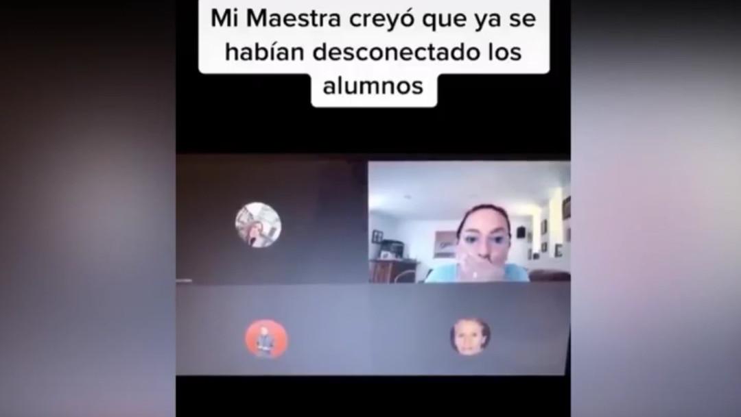 Video conferencia Maestra insulta alumnos