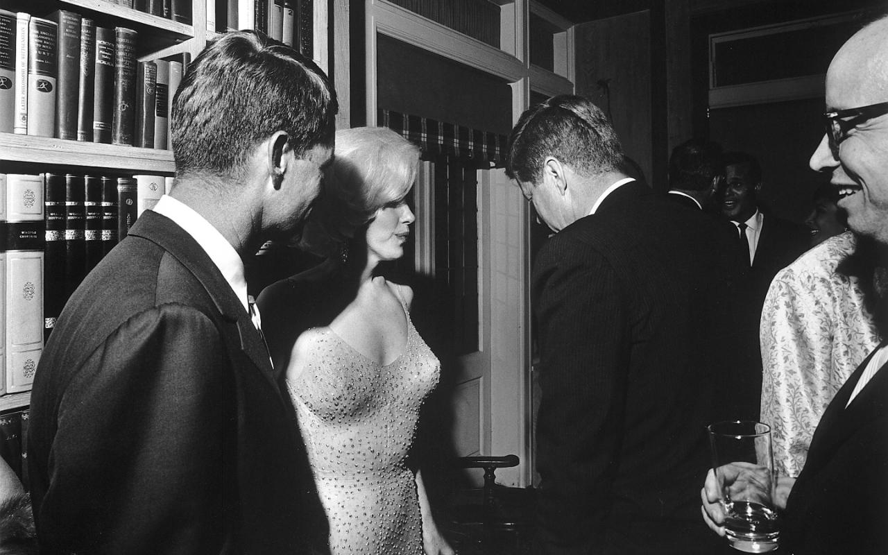 John F. Kennedy y Marilyn Monroe el 19 de mayo 1962. Fotografía de Archivo.