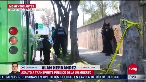 FOTO: 17 de mayo 2020, muere vendedor de dulces tras asalto a transporte publico en la gam