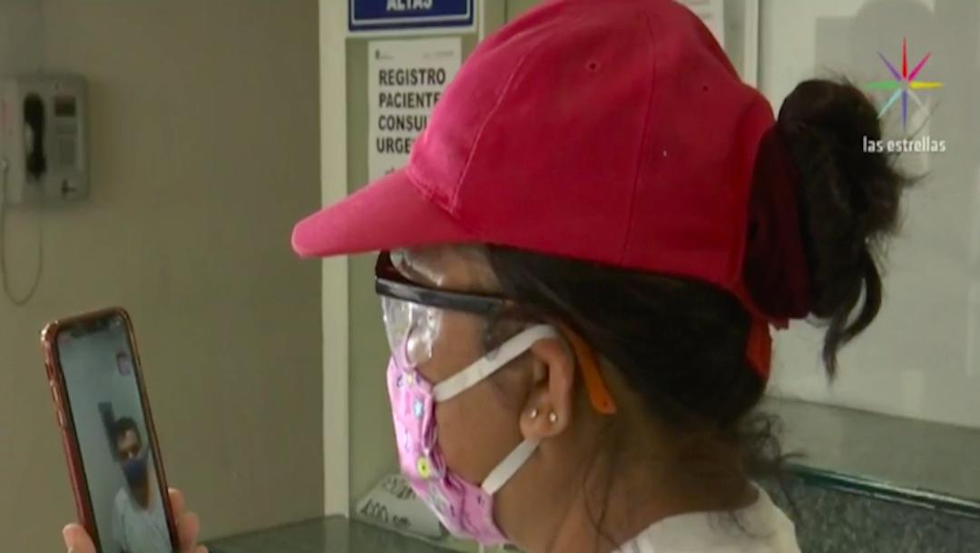 Pacientes de 'Las Américas' de Ecatepec hacen videollamadas