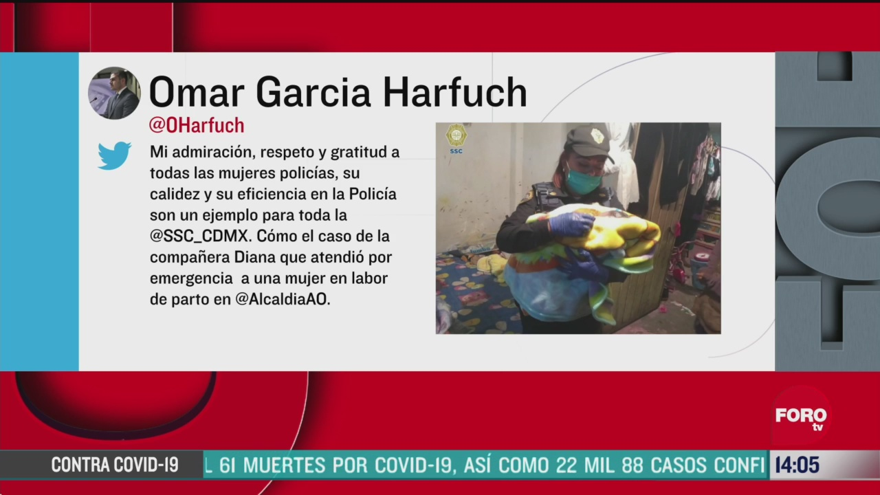 FOTO: 3 de mayo 2020, reconocen a mujer policia que atendio parto en alvaro obregon