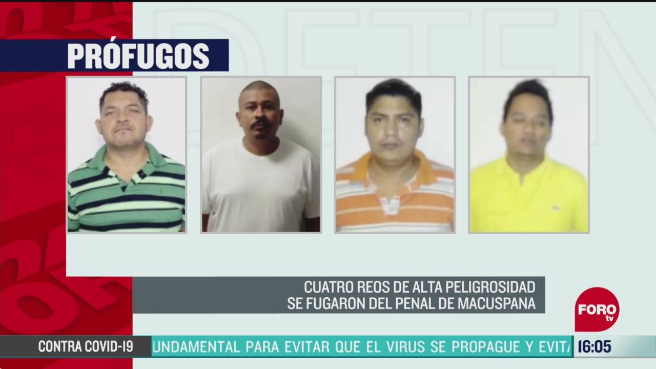 FOTO: 17 de mayo 2020, se escapan cuatro reos de alta peligrosidad del penal de macuspana