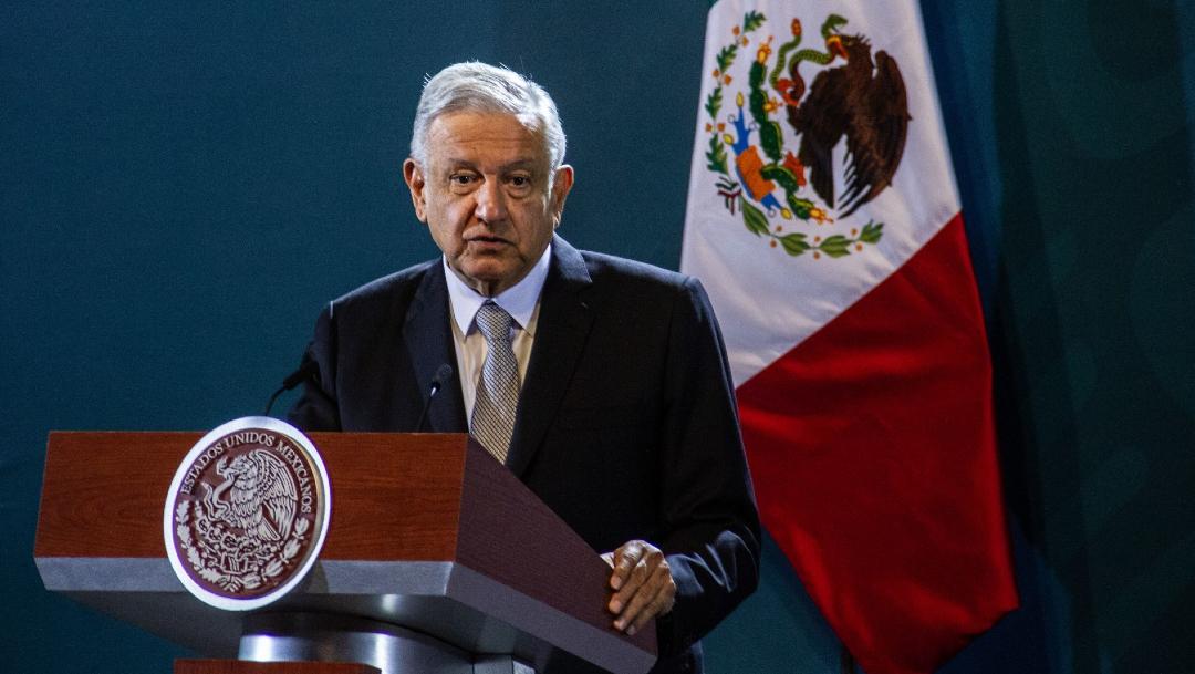 Andrés Manuel López Obrador, presidente de México, en su conferencia de prensa matutina en el Antiguo Palacio de Ayuntamiento. (Foto: Cuartoscuro)