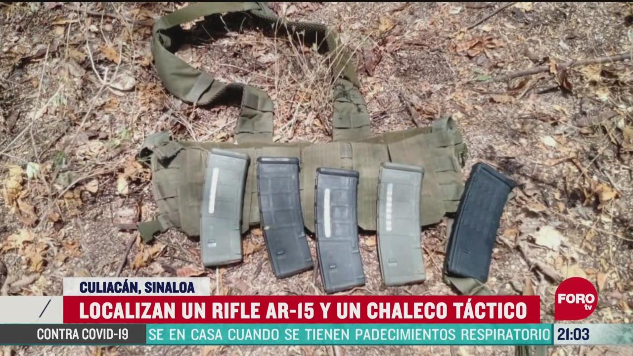 FOTO: 14 de junio 2020, aseguran en culiacan un arma larga de uso exclusivo del ejercito