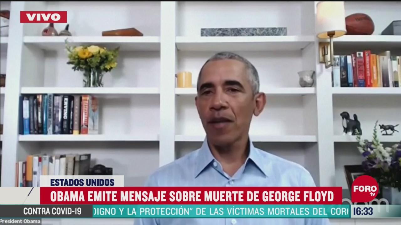 FOTO: barack obama emite mensaje por muerte de george floyd