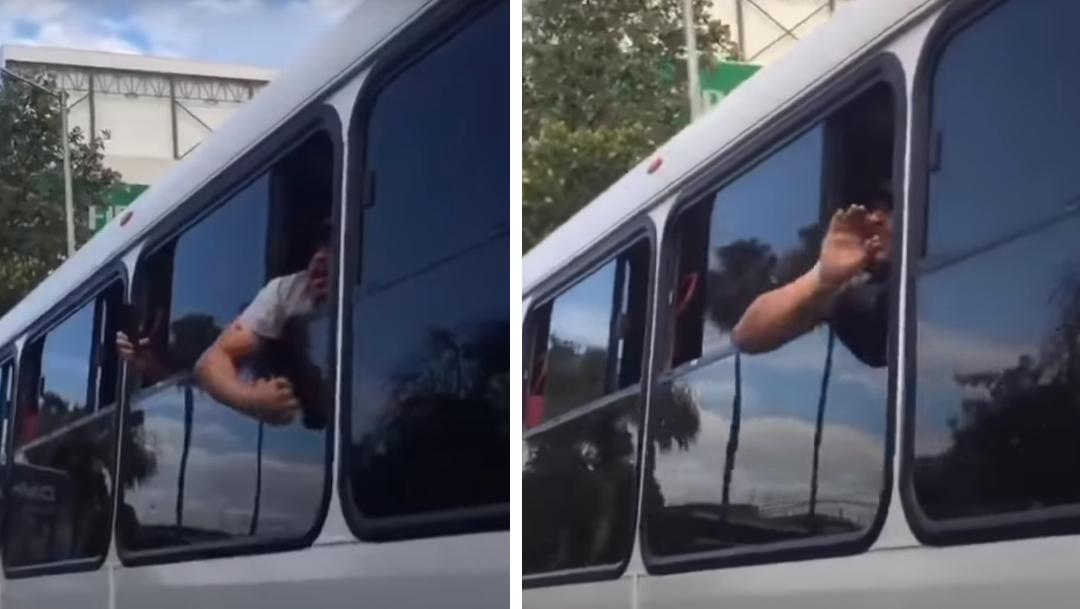 hombre-con-gorra-asomado-ventana-autobus-sacando-brazo