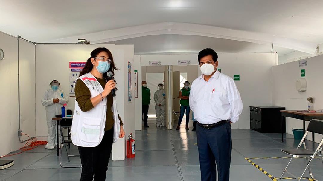 Carpa Triage Alcaldía GAM Pacientes Síntomas Coronavirus