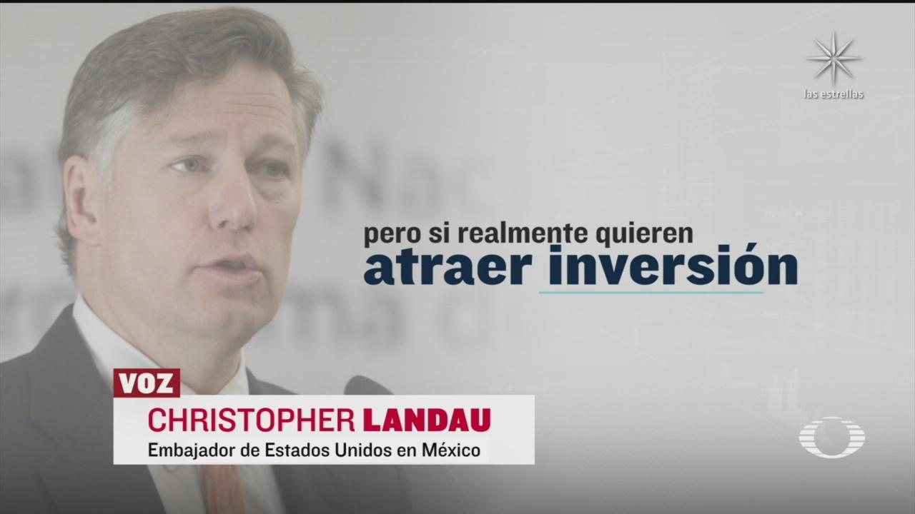 Christopher Landau lamenta desencuentros entre el Gobierno de México y la IP