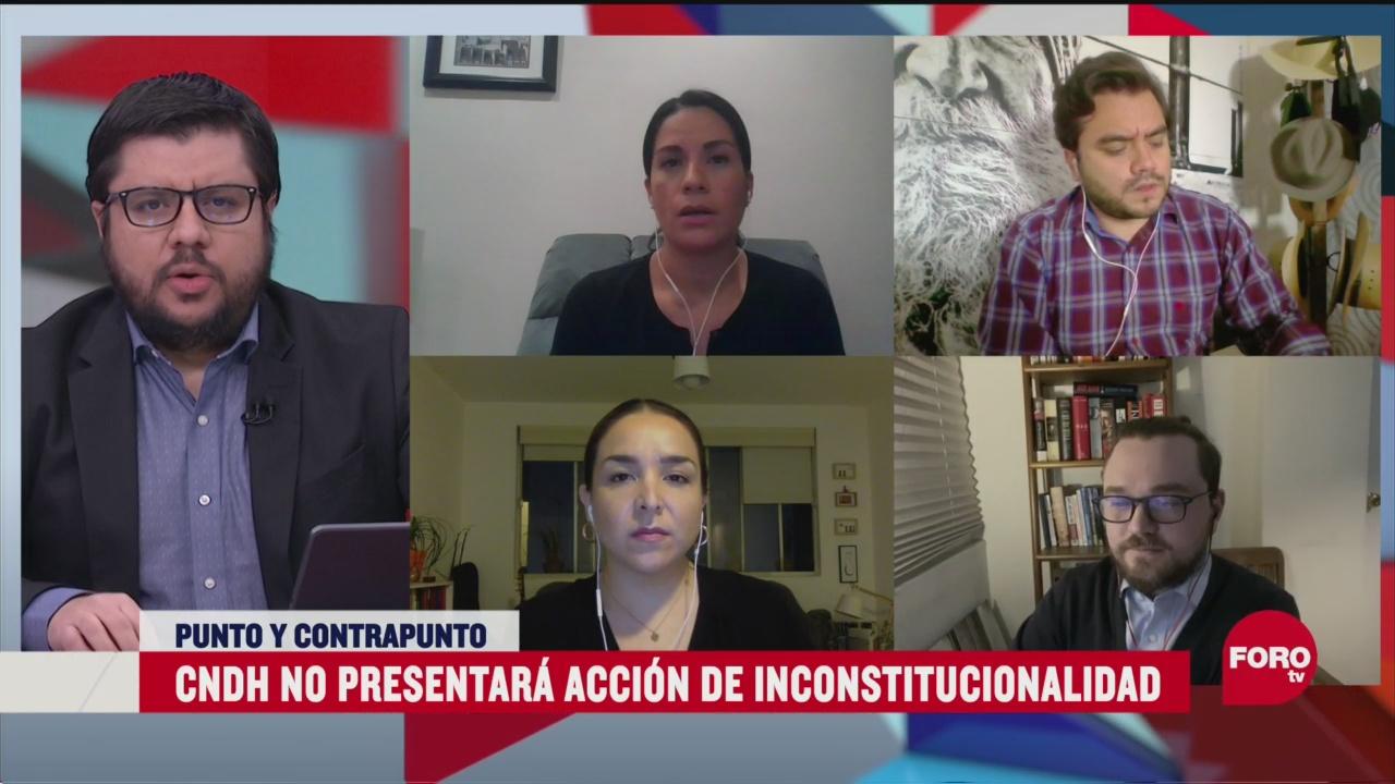 CNDH no presentará acción constitucional