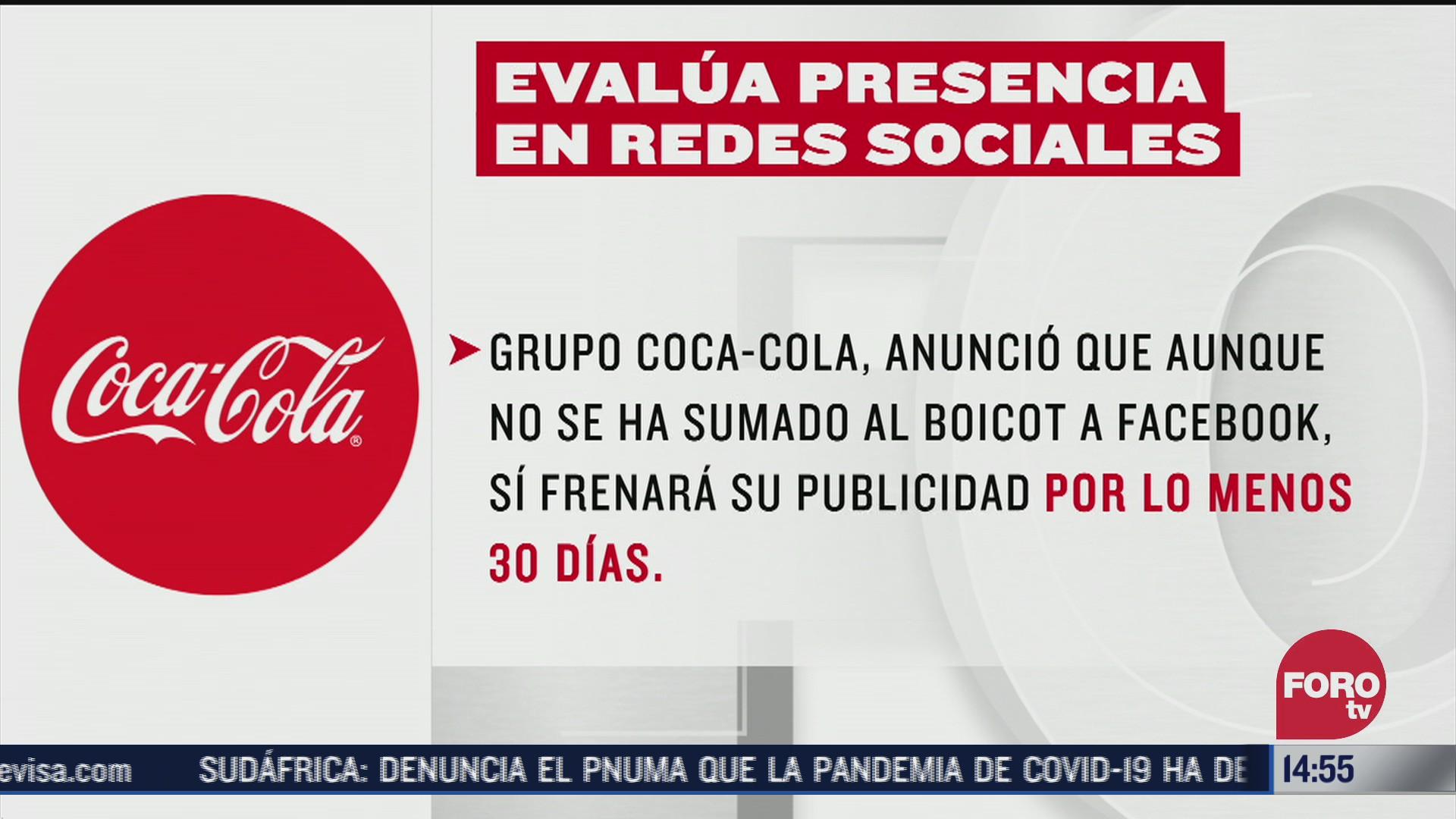 coca cola y otras marcas retiran publicidad de facebook y twitter