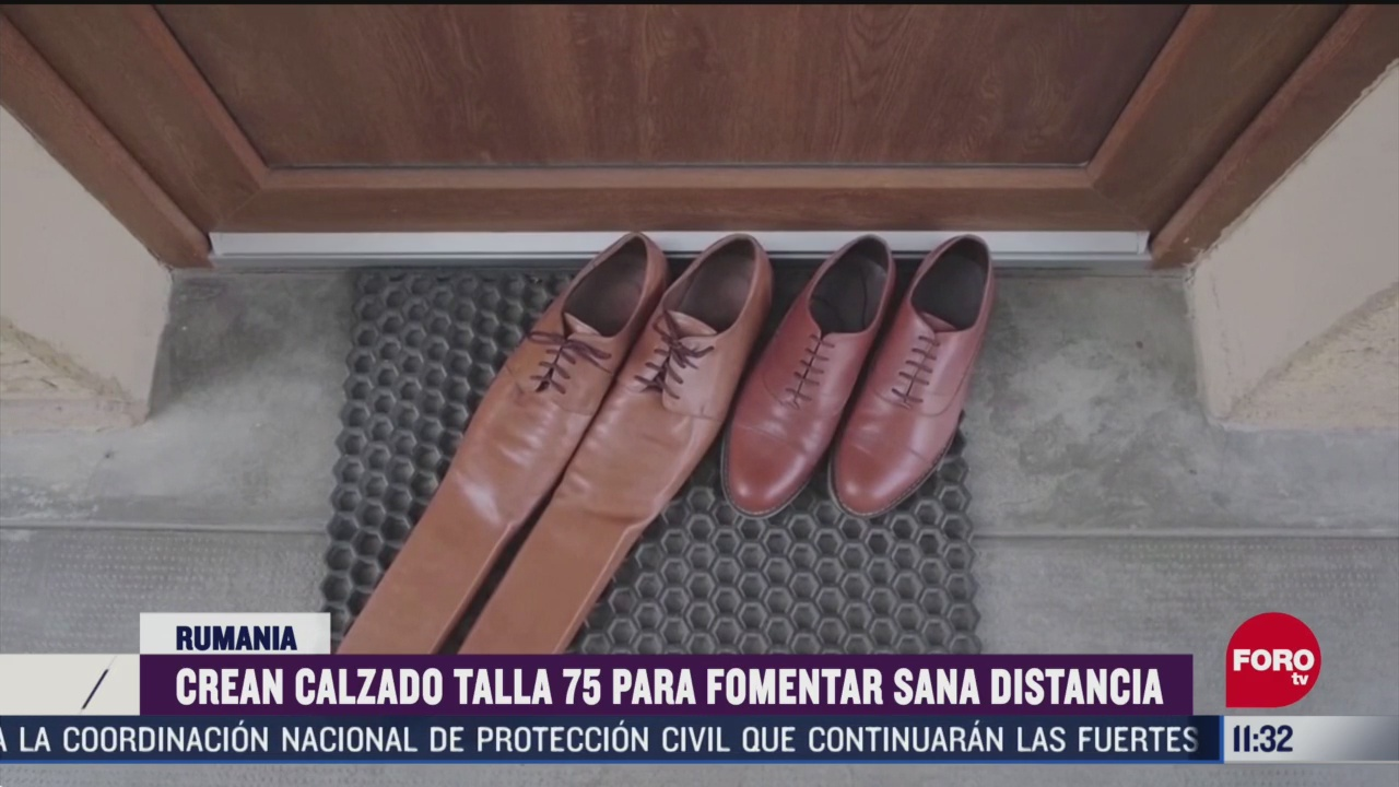 crean calzado talla 75 para fomentar sana distancia en rumania