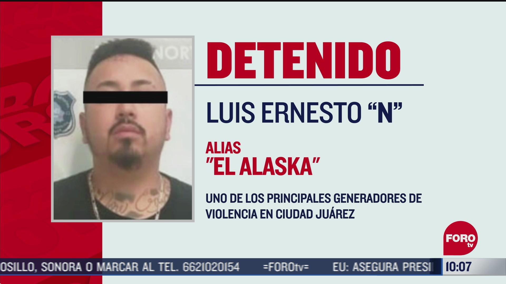 FOTO: 27 de junio 2020, detienen en chihuahua a el alaska generador de violencia en ciudad juarez